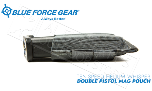 Blue Force Gear Ten-Speed Helium Whisper Double Pistol Mag Pouch #HW-TSP-PISTOL-2
