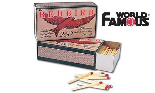 REDBIRD STRIKE ANYWHERE MATCHES, BOX OF 250 #4038