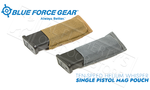 Blue Force Gear Ten-Speed Helium Whisper Single Pistol Mag Pouch #HW-TSP-PISTOL-1