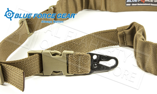 Blue Force Gear UDC Padded Bungee Single Point Sling with Sling Snap Hook Adapter #UDC-200-BG-HK