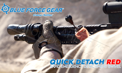 """Blue Force Gear Rapid Emergency Detachment Swivel (RED), 1.25"""" Sling Loop #P-PBER-125"""