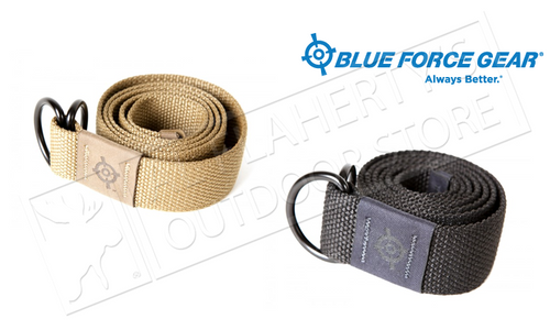 "BLUE FORCE GEAR BFG WEBB BELT - LARGE 45"", BLACK OR COYOTE BROWN"
