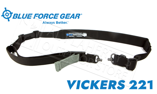 Blue Force Gear Vickers 221 Sling, Padded with QD Swivel Release #VCAS-2TO1-PB-200-AA