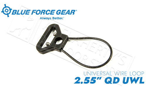 "Blue Force Gear Universal Wire Loop with Push Button Socket, 2.55"" #UWL-PB-255-BK"