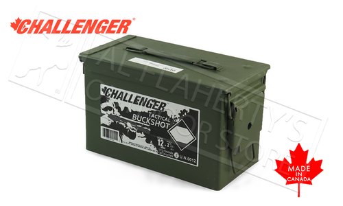 "Challenger Target Buckshot 12 Gauge 2-3/4""4-Buck 9-Pellet Can of 175 Shells #04140"