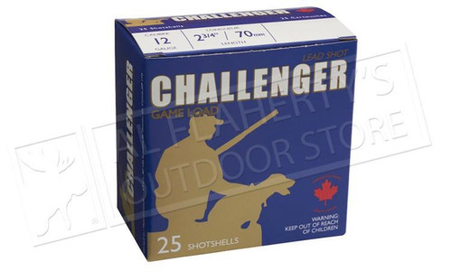 "Challenger 12 Gauge Target Slugs,  2-3/4"" 1 oz. Low Recoil, Box of 25 Shells"
