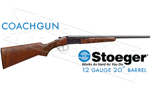 "STOEGER IGA COACH GUN, 12 GAUGE, 3"" CHAMBER, 20"" BARREL WITH FIXED CHOKES & DOUBLE TRIGGER #31400"