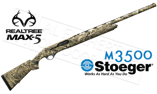 "STOEGER M3500 12 GAUGE, 3.5"" CHAMBER, 28"" BARREL, REALTREE MAX-5 CAMOUFLAGE #31800"