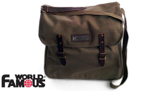 WFS CITY MESSENGER BAG, O.D. GREEN WITH TABLET/LAPTOP POCKET #3012OD