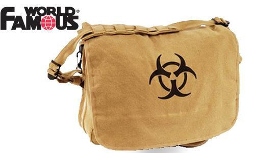 WFS CANVAS SATCHEL, BIOHAZARD LOGO #181
