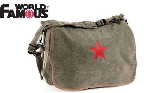 WFS CANVAS SATCHEL, STAR LOGO #182