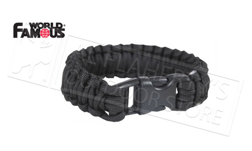 WFS PARACORD SURVIVAL BRACELETS, BLACK OR OLIVE