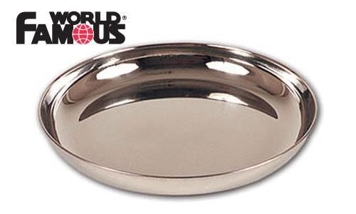 "WORLD FAMOUS STAINLESS STEEL PLATE, 9"" #696"