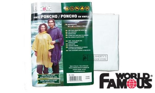 WFS VINYL PONCHO, CLEAR #6930