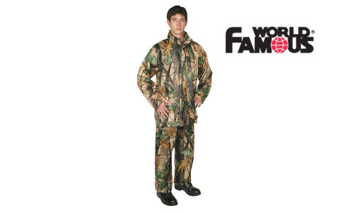 WORLD FAMOUS STORMFRONT RAINSUIT, CAMOUFLAGE #6124