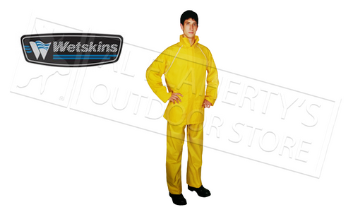 WETSKINS STORMFRONT RAINSUIT, PANTS & JACKET, YELLOW M-XXL #6121