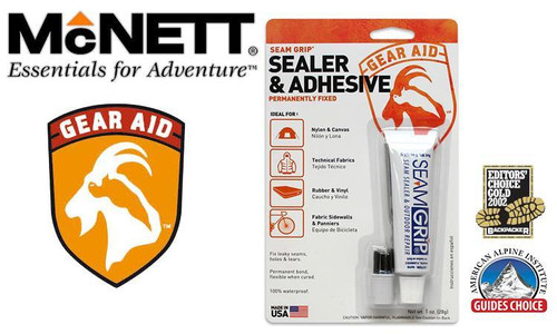 MCNETT GEAR AID SEAM GRIP - SEALER & ADHESIVE, 28G / 2 OZ. TUBE #1200