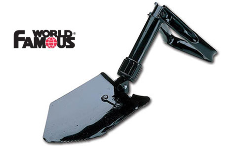 """WORLD FAMOUS TWO WAY FOLDING SHOVEL, 9"""" TO 23.5"""" EXTENDED #174"""
