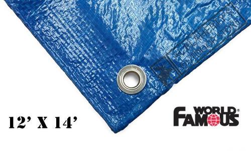 WFS RIPSTOP TARP, BLUE 12FT X 14FT #P1214