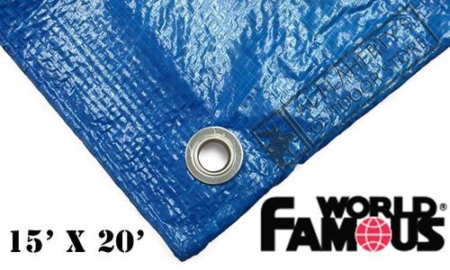 WFS RIPSTOP TARP, BLUE 15FT X 20FT #P1520