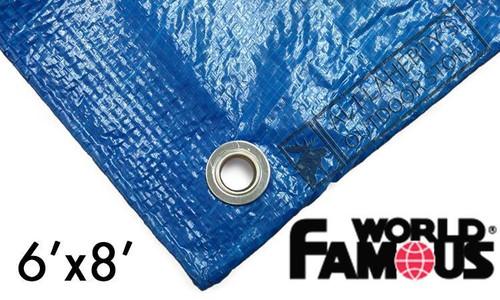 WFS RIPSTOP TARP, BLUE 6FT X 8FT #P68