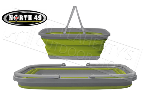 """NORTH 49 COLLAPSIBLE BASIN 18""""X13.5""""X7.5"""" 15L #2278"""
