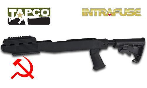 TAPCO SKS STOCK SYSTEM, RAILED - BLACK #STK66169B