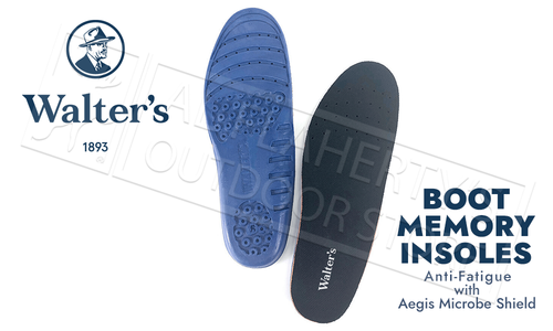 Walter's Boot Memory Insoles with Mircrobe Shield - Various Sizes #41600315