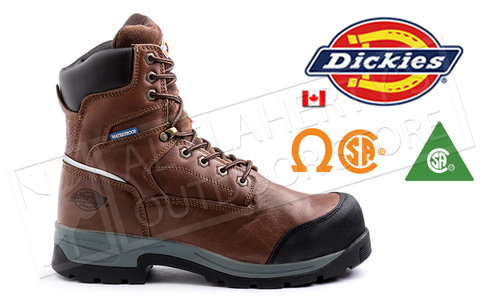 "DICKIES STRYKER 8"" WORK BOOT, BROWN SIZES 8-12 #D8822"