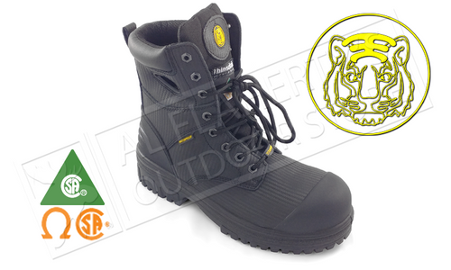 "TIGER TITANIUM SAFETY BOOT 8"" BLACK SIZES 8-12 #6688"