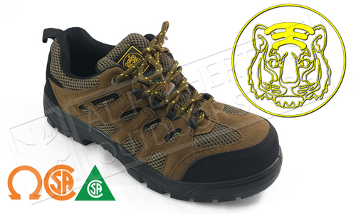 TIGER SAFETY CSA APPROVED WORK SHOE, METAL FREE SOLE WITH STEEL CAP, EEE WIDTH SIZES 8-12 #3111-T