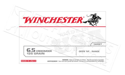 Winchester 6.5 Creedmoor, 125 Grain Open Tip Range #USA65CM
