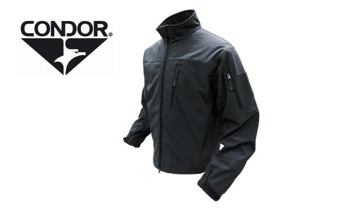 CONDOR 606 PHANTOM SOFT SHELL JACKET - BLACK