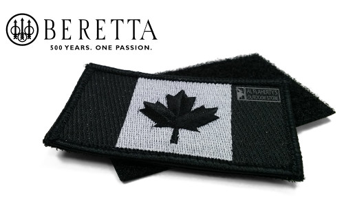 Beretta Canada Flag Embroidered Duty Patch with Backing #PATCHFL99