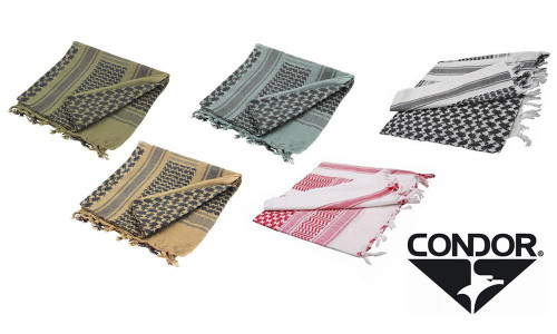 CONDOR 201 SHEMAGH - BLACK & GREEN, TAN & BLACK, RED & WHITE, FOLIAGE & BLACK, FOILAGE & GREEN