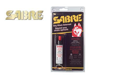 SABRE DOG ATTACK DETERRENT PEPPER SPRAY, 22G PRESSURIZED CAN WITH KEYCHAIN LOOP
