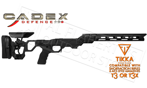 CADEX FIELD COMPETITION CHASSIS FOR TIKKA T3 SERIES SHORT ACTION RIFLES USING AICS MAGAZINES #STKFOT-TIK-RH-SA