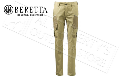 Beretta Country Cargo Pants in Prairie Sand, Sizes 52-56 Italian #CU971T12930127