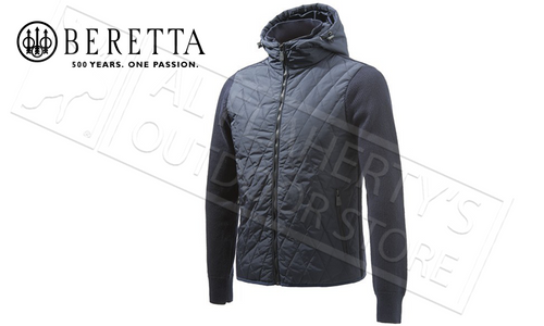 Beretta Ebony Quilted Sweater Zip-Up in Blue, M-2XL #PU062T1467