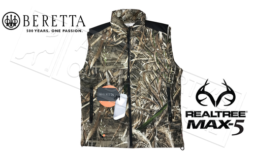 Beretta Fusion BIS Primaloft Vest in Realtree Max5, Sizes M-2XL #GU143T14040858