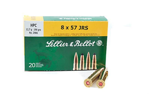 SELLIER & BELLOT 8X57 JS, FMJ 196 GRAIN BOX OF 20