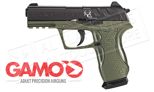 GAMO C-15 BONE COLLECTOR BLOWBACK AIR PISTOL, .177 BB OR PELLET