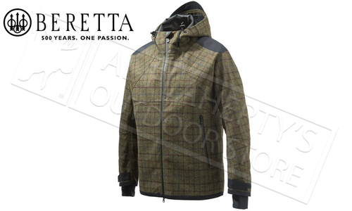 Beretta Snowdrop 3L Wool Mars Jacket in Plaid, Sizes 50-56 Italian #GU283T1409079Z