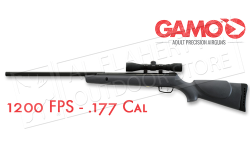 Gamo Hunter 1200 Air Rifle Combo with 4x32mm Scope, .177 Cal 1200FPS