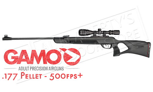 GAMO MAGNUM AIR RIFLE WITH SCOPE, .177 OR .22 PELLET