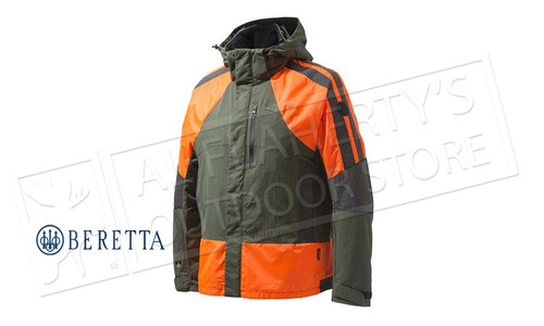 Beretta Thorn Resistant Jacket GTX in Green & Orange M-2XL #GU033T1429077W