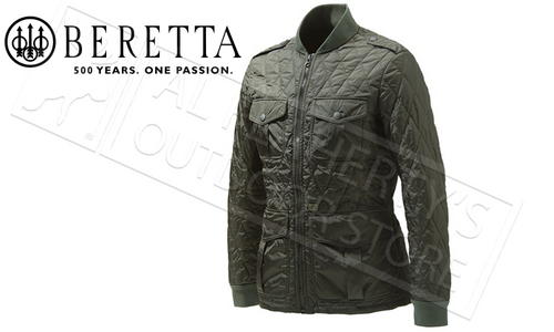 Beretta Tilia Quilted Field Jacket in Culture Green, Sizes 50-58 Italian #GU862T1360
