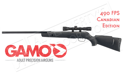 GAMO VARMINT AIR RIFLE WITH 4X32MM SCOPE, .177 CALIBER PELLET 490FPS