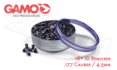 GAMO TOMAHAWK POINTED HOLLOW POINT PELLETS .177, 7.8 GRAIN TIN OF 750