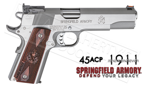 SPRINGFIELD ARMORY 1911 RANGE OFFICER STAINLESS STEEL- 45ACP